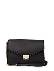 Pebbled chain bag - BLACK