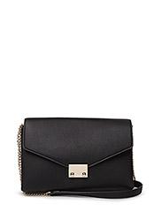 Pebbled chain bag - BLACK