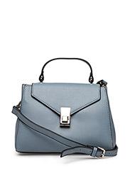 Flap pebbled bag - LT-PASTEL BLUE