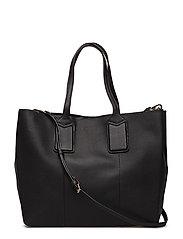 Pebbled shopper bag - BLACK