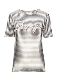 Embroidered message t-shirt - NATURAL WHITE