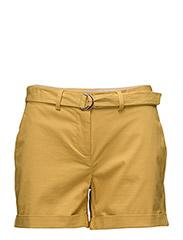 Belt cotton-blend short - MEDIUM YELLOW