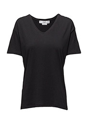V-neckline essential t-shirt - BLACK