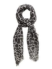 Animal print scarf - BLACK