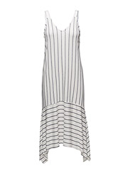 Flowy striped dress - NATURAL WHITE