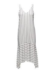Flowy striped dress - NATURAL WHITE