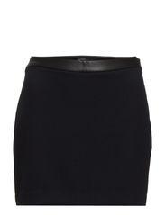 Contrast waist miniskirt - Navy