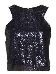 Sequined top - Navy