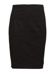 Cotton-blend pencil skirt - Black