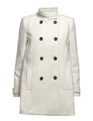 Double-breasted coat - Natural white