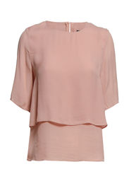 Double-layer blouse - Lt-pastel pink