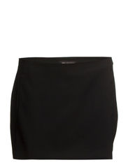 Textured skort - Black
