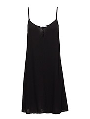 Strap flowy dress - BLACK