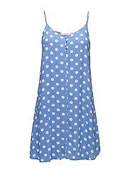 Strap flowy dress - MEDIUM BLUE
