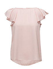 Ruffled sleeve blouse - PINK