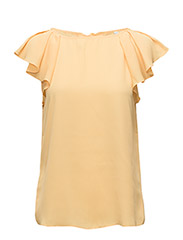 Ruffled sleeve blouse - YELLOW