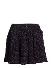 Belt printed skirt - Navy