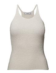 Knit halter top - LIGHT BEIGE