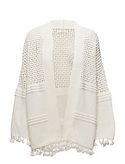 Open knit cardigan - LIGHT BEIGE