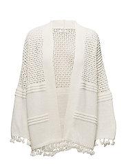 Open knit cardigan - LIGHT BEIGE