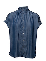 Soft fabric shirt - OPEN BLUE