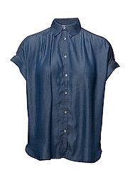 Soft fabric shirt - OPEN BLUE