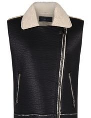 Faux shearling gilet - Black