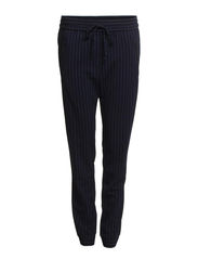 Pinstripe trousers - Navy