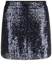 Sequin miniskirt - Navy