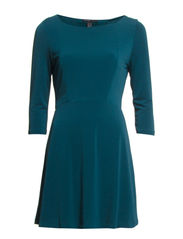 Open-back dress - Dark green