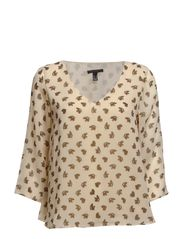 Butterfly print blouse - Natural white