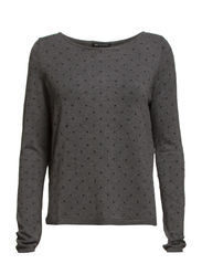 Embossed polka-dot sweater - Medium grey