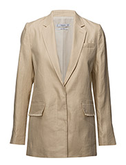 Structured linen jacket - LIGHT BEIGE
