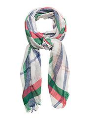 Check print scarf - MEDIUM BLUE