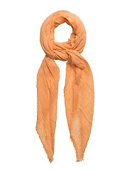 Textured scarf - LT-PASTEL ORANGE