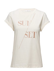 Printed message t-shirt - LIGHT BEIGE