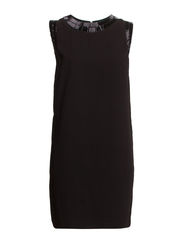 Bead detail dress - Black