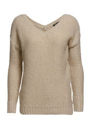 Metal thread sweater - Natural white