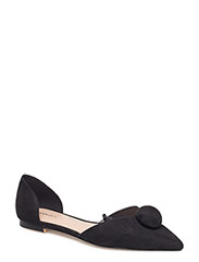 Pointed toe flat shoes - BLACK
