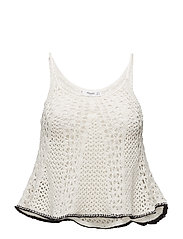 Crochet top - LIGHT BEIGE