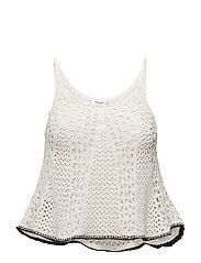 Crochet top - LIGHT BEIGE