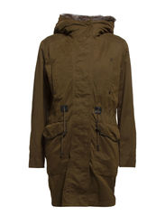 Military hooded coat - Medium beige
