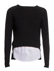 Silk cashmere-blend sweater - Black