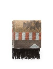Ethnic knit scarf - Dark brown