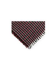 Houndstooth striped scarf - Dark red