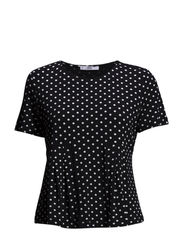 Polka-dot t-shirt - Black