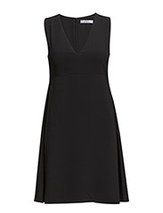 V-neckline dress - Black