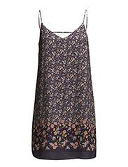 Cotton printed dress - Dark blue