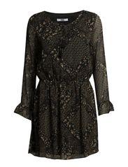 Floral print dress - Black