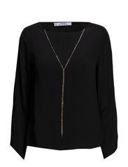 Pendant flowy blouse - Black